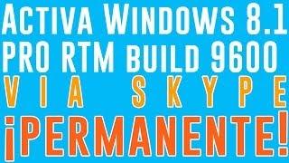 Activa Windows 8.1 RTM Build 9600