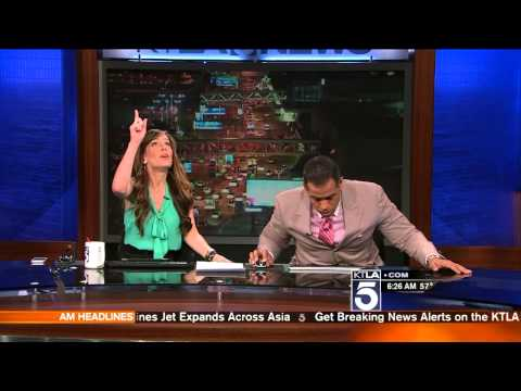 KTLA Anchors React to Earthquake!