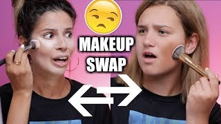 I SWAPPED MAKEUP BAGS WITH MY 14 YR OLD NIECE