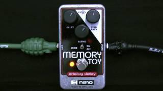 Electro Harmonix Memory Toy Analog Delay Pedal Demo