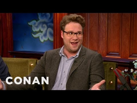 Seth Rogen's Hangover Flight From Hell - CONAN on TBS