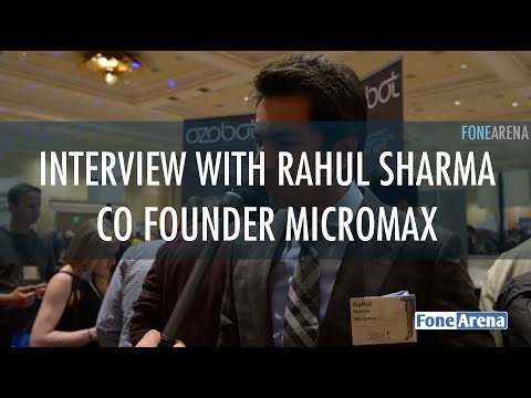 Interview with Rahul Sharma Co Founder Micromax @ CES 2014