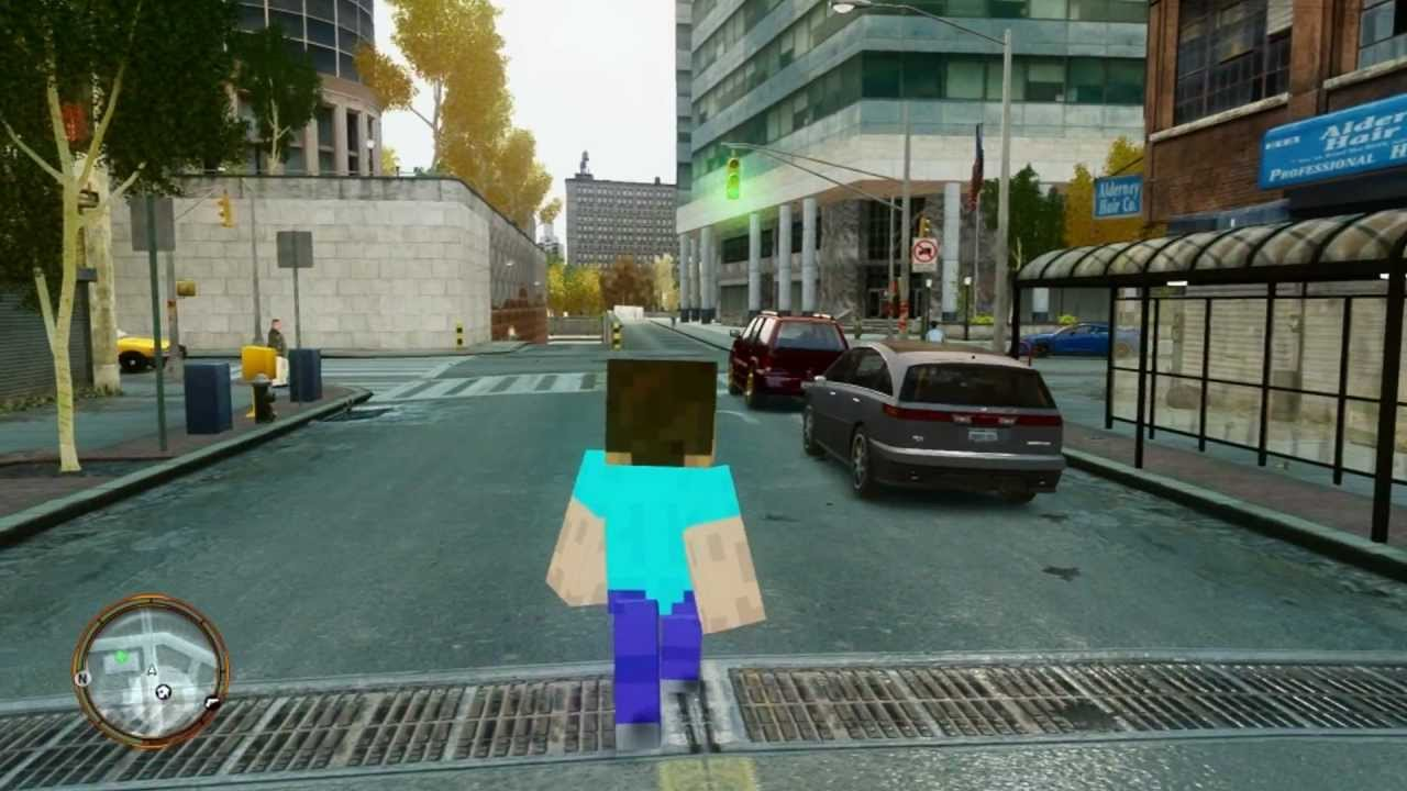 minecraft steve in reallife!!! 1080p - YouTube