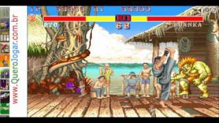 Street Fighter, Jogo Igual Ao Do Fliperama