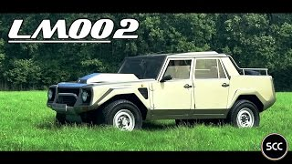 (HD) SCC: Lamborghini LM002 1989 - Test Drive in top gear - GoPro - V12 Engine