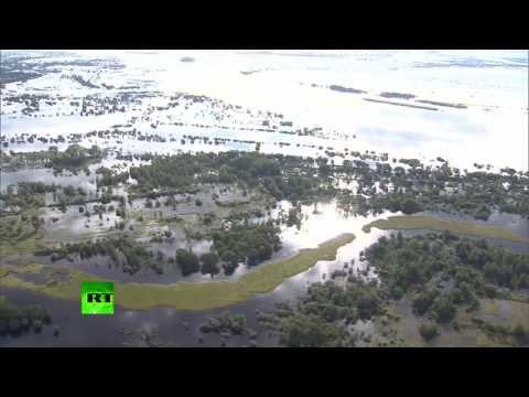 Наводнение в Амурской области дошло до Хабаровска