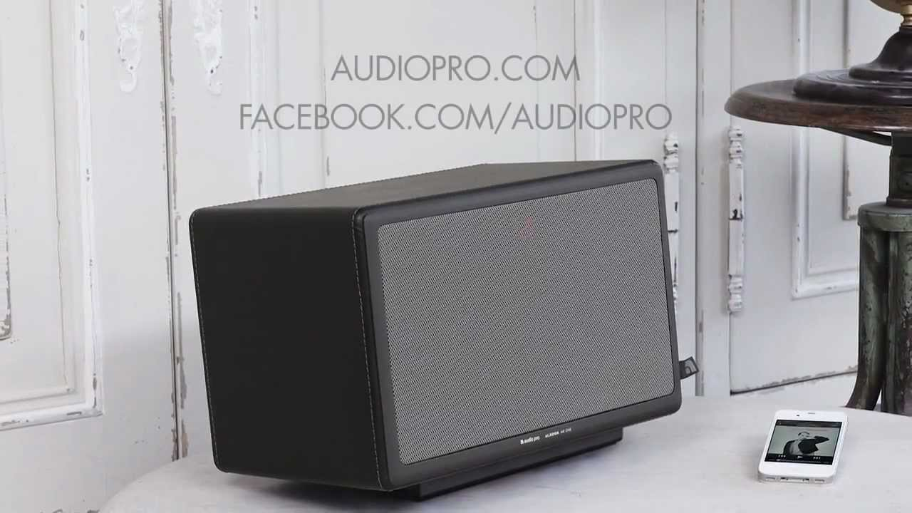 presenting audio pro wireless airplay speaker allroom air one youtube. Black Bedroom Furniture Sets. Home Design Ideas