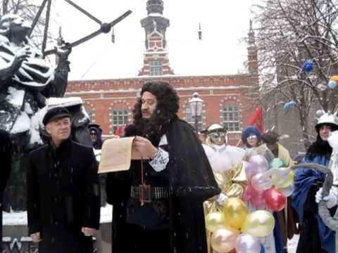Jan Heweliusz czyta horoskop dla Gdańska na 2010