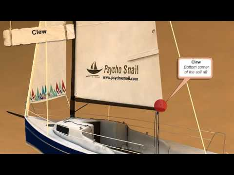 How to Sail - Lesson 1.3 - Parts of a sailboat Sail - PsychoSnail Sailing