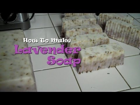 How To Make Lavender Soap (with Shea Butter and Sunflower Oil)