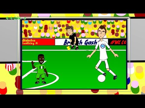 DZEKO OFFSIDE - Nigeria v Bosnia H by 442oons (World Cup Cartoon 2014 21.6.14)
