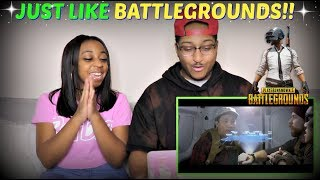 "Nigahiga ""BATTLEGROUNDS The Movie! (Official Fake Trailer)"" REACTION!!"