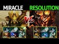 Miracle Sandking VS Resolution Shadow Fiend Crazy Game Dota 2