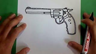 Como Dibujar Un Revolver Paso A Paso How To Draw A Gun