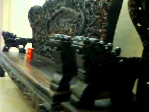 bàn ghế phòng khách bằng gỗ Mun Hoa Cửu Long ,Bát Mã,10 món