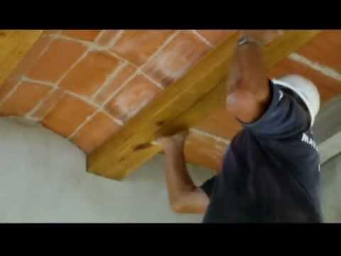 Cómo forrar con madera vigas de hormigón.Video nº 61