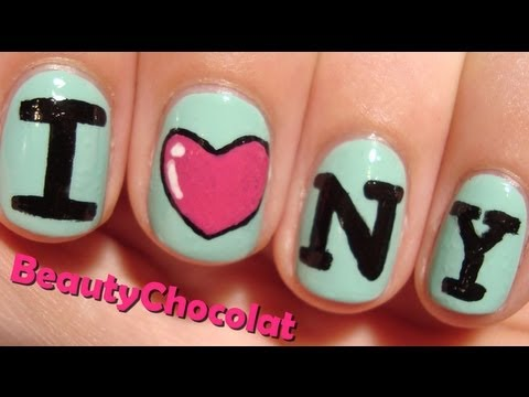 I ♥ NY - Easy Nail Art Tutorial - I Love NY Nails