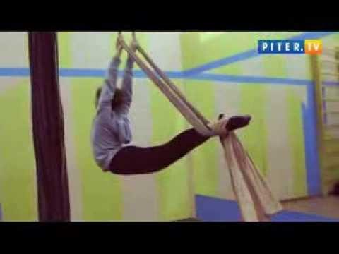 Танцевальная студия Дива на piter.tv 18 ноября 2013 года. Танцы на полотнах (цирковая воздушная гимнастика)
