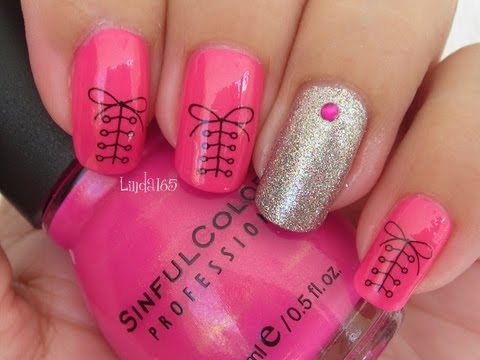 Nail Art - Cute Shoelace Water Decal