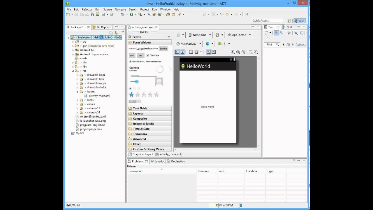 how to create android app in eclipse juno