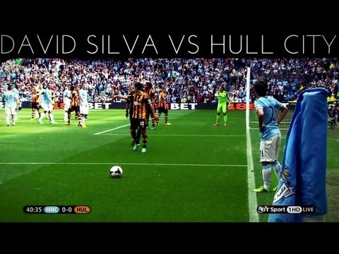 David Silva vs Hull City (H) 2013-2014 EPL HD