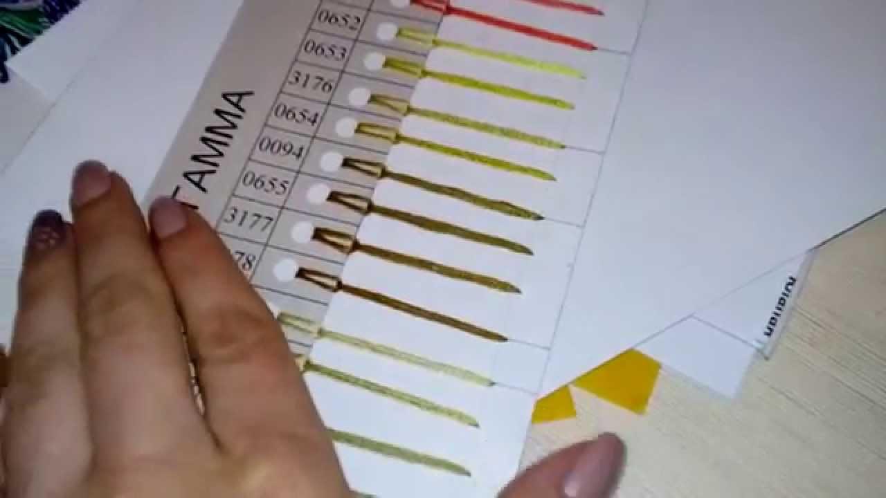 Живая карта цветов мулине своими руками 17