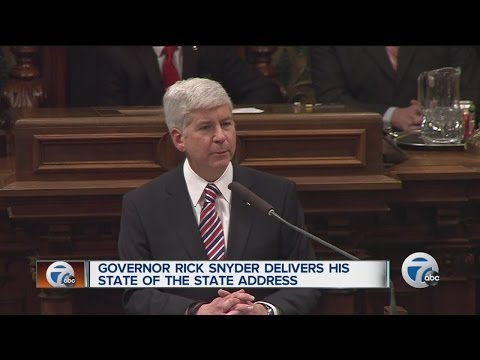 Governor Rick Snyder delivers his State of the State address