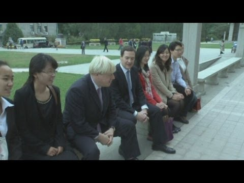 Boris Johnson out-charms George Osborne in China