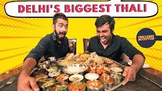 Biggest Thali In Delhi   Modi Ji 56-Inch Thali   Indian Street Food   Challenge Accepted #28