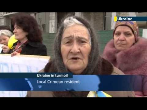 Women of Crimea opposing Putin s invasion News / Crimean Tatars / JN1 09/03/2014 09 March 2014