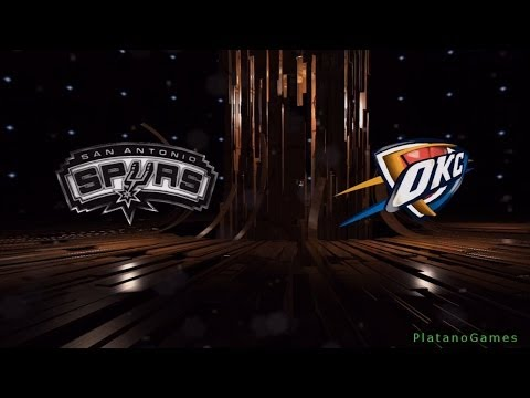 NBA San Antonio Spurs vs Oklahoma City Thunder - 1st Qrt - NBA Live 14 PS4 -HD