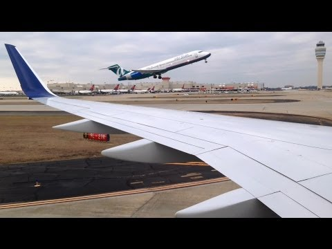 World's Busiest Airport! Delta Air Lines 757 Landing in Atlanta!