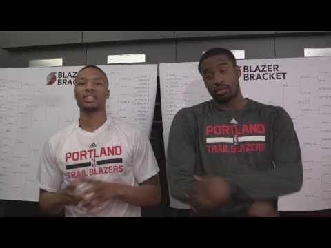 Trail Blazers Bracketology With Damian Lillard And Wesley Matthews