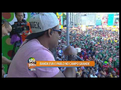 SBT Folia 2014 - Pablo do Arrocha canta Fui Fiel, do Gusttavo Lima, com Banda Eva