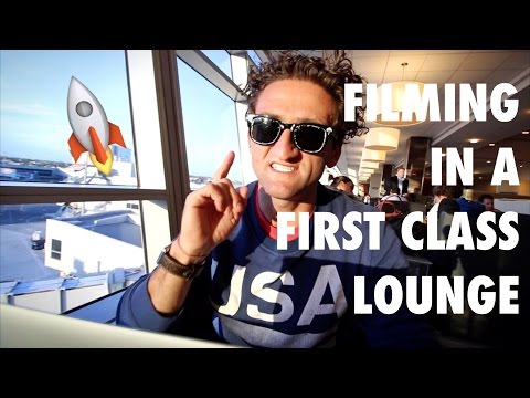 Filming in a First Class Lounge