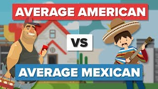 Average American vs Average Mexican - People Comparison