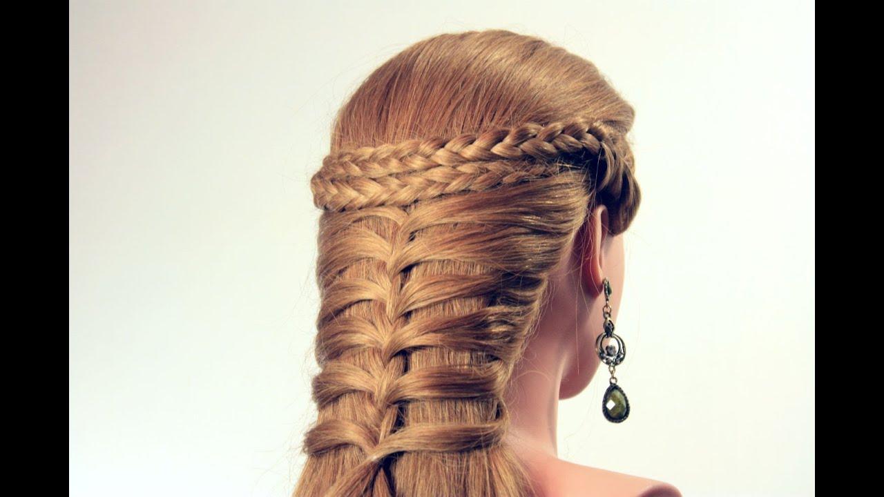 прически из косичек на длинные волосы на каждый день