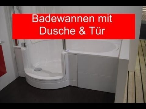 badewanne mit dusche und t r youtube. Black Bedroom Furniture Sets. Home Design Ideas