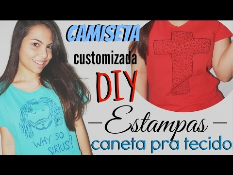 DIY: Camiseta estampada / T-shirt customizada, Sirius Black! | Andressa Moraes