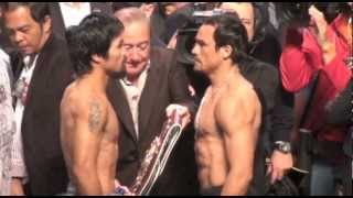 Weigh-in: Manny Pacquiao Vs Juan Manuel Marquez 4 WEIGH IN