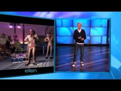 Ellen Plays Dance Central on Kinect, http://www.gameduct.com Popular TV host Ellen DeGeneres plays Dance Central whilst introducing Kinect and Dance Central on The Ellen DeGeneres Show.