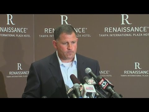 RAW VIDEO: Former Tampa Bay Buccaneers coach Greg Schiano reacts to being fired