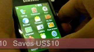 Samsung GT-S5600 Unboxing Demo Video