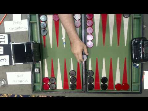 Carolina Backgammon FM R2 Neil Kazaross v Petko Kostadinov