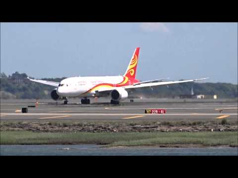 Hainan Airlines inaugural flight to Boston