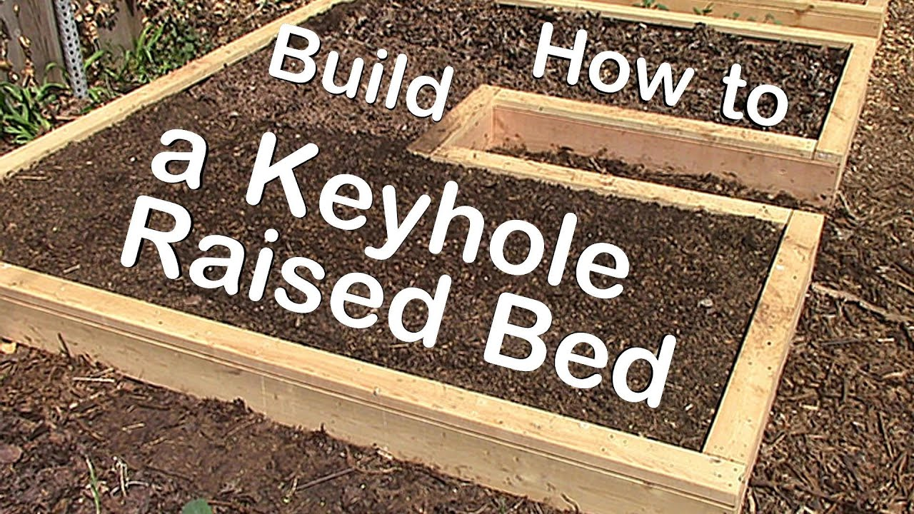 How to Build a Keyhole Raised Garden Bed - YouTube