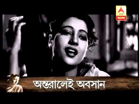 Suchitra Sen behind the curtain