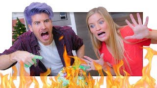 Christmas Cupcake Tower GONE WRONG with Joey Graceffa!