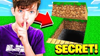 MINECRAFT WHAT'S INSIDE MY LITTLE BROTHER'S *SECRET* MAP...?
