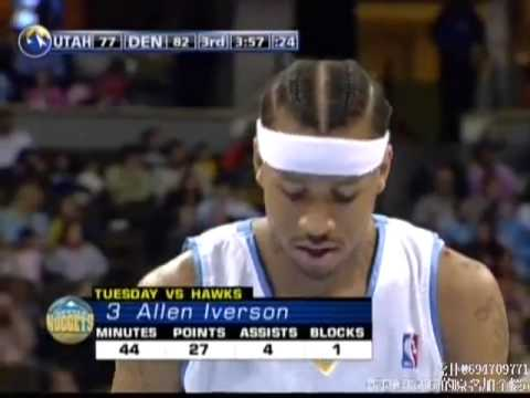 [original]08 VS Jazz Allen Iverson 28 points 9 assists and Carmelo Anthony 23 points 2 assists